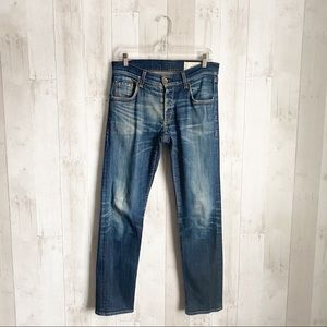 [Rag & Bone] Fit 2 Slim Leg Button Fly Jeans